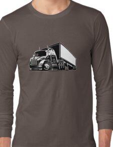 Cartoon cargo semi-truck Long Sleeve T-Shirt