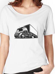 Cartoon cargo semi-truck Women's Relaxed Fit T-Shirt