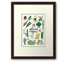 Veggies Framed Print