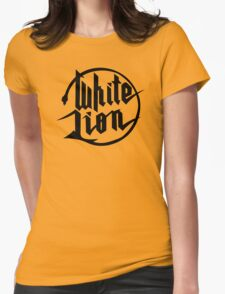 White Lion logo Womens Fitted T-Shirt