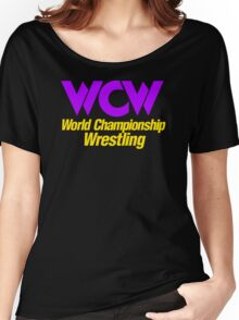 Wcw Wrestling Retro Starcade Logo Nitro Stin Women's Relaxed Fit T-Shirt