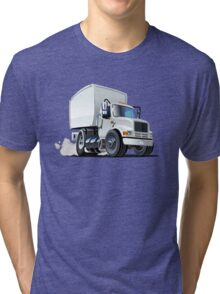 Cartoon delivery/cargo truck Tri-blend T-Shirt