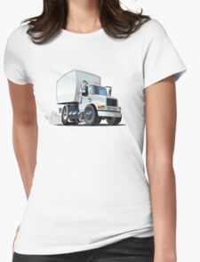 Cartoon delivery/cargo truck Womens Fitted T-Shirt