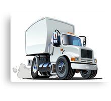 Cartoon delivery/cargo truck Canvas Print