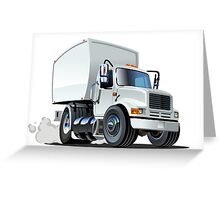 Cartoon delivery/cargo truck Greeting Card