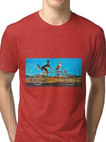 Bicycle Dogs Tri-blend T-Shirt