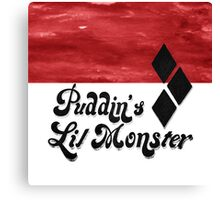 Puddin's Lil Monster Canvas Print