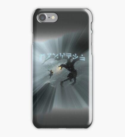 Dovahkiin fight Alduin iPhone Case/Skin