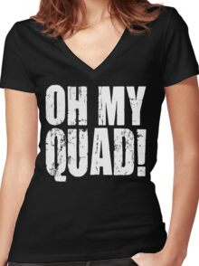 OH MY QUAD! Women's Fitted V-Neck T-Shirt