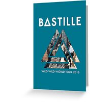BASTILLE WILD WORLD LOGO 2016 RWBR Greeting Card