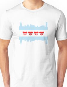 Chicago Flag Cubs Skyline Unisex T-Shirt
