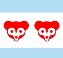 Chicago Flag Cubs Skyline Sticker