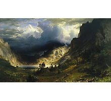 Albert Bierstadt - A Storm In The Rocky Mountains Mt Rosalie Photographic Print