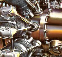 Vintage Radial Aircraft Engine Sticker