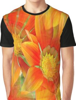 Seamless Vibrant Yellow Gazania Flower Graphic T-Shirt