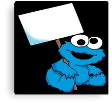 baby cookie monster tattoo Canvas Print