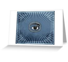 Vintage All Seeing Eye Greeting Card