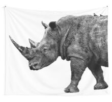 SAFARI PROFILE - RHINO WHITE EDITION Wall Tapestry