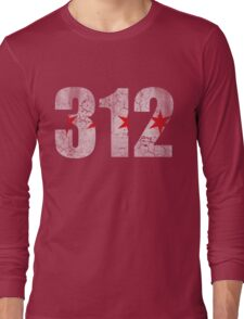 Vintage Chicago Flag 312  Long Sleeve T-Shirt