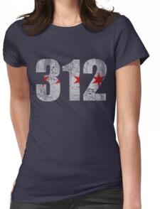 Vintage Chicago Flag 312  Womens Fitted T-Shirt