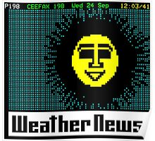 Pages From Ceefax - Weather News Poster