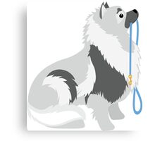 Keeshond Leash Canvas Print