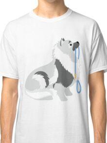 Keeshond Leash Classic T-Shirt
