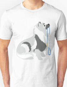Keeshond Leash Unisex T-Shirt
