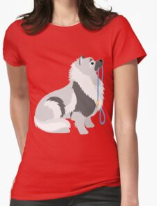 Keeshond Leash Womens Fitted T-Shirt