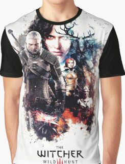 THE WITCHER WILD HUNT LOGO RBTR Graphic T-Shirt