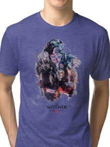 THE WITCHER WILD HUNT LOGO RBTR Tri-blend T-Shirt
