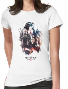 THE WITCHER WILD HUNT LOGO RBTR Womens Fitted T-Shirt