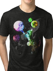 Space Cat with Planets Tri-blend T-Shirt