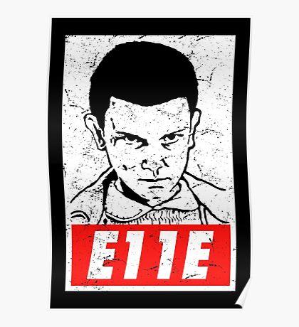 E11E Eleven Stranger Things Poster
