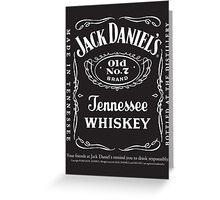 Whiskey JD Greeting Card