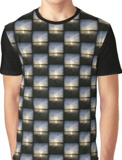 Side Wide Sunset Graphic T-Shirt