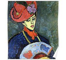 Alexei Jawlensky - Schokko With Red Hat  Poster