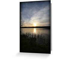 Side Wide Sunset Greeting Card