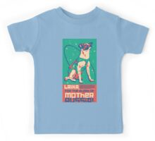 Laika Space Dog Illustration Vector Russian Propaganda Pup Retro Vintage Kids Tee