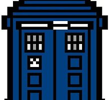 Pixel Tardis Phone Cases and Pillows by Owlmail