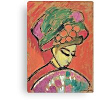 Alexei Jawlensky - Young Girl With A Flowered Hat  Canvas Print
