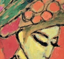 Alexei Jawlensky - Young Girl With A Flowered Hat  Sticker