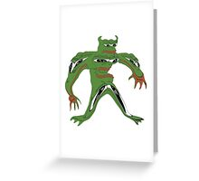 frog moster Greeting Card