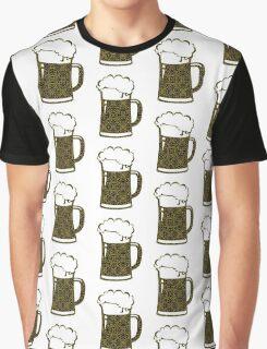 Yellow,Gold,Beer,Mug,Lace Graphic T-Shirt