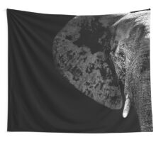 SAFARI PROFILE - ELEPHANT BLACK EDITION Wall Tapestry