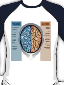 Human brain left and right functions T-Shirt