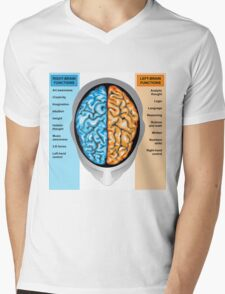 Human brain left and right functions Mens V-Neck T-Shirt