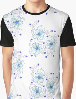 A Little Blue And Purple Graphic T-Shirt