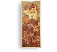 Alphonse Mucha - Amethyst Canvas Print