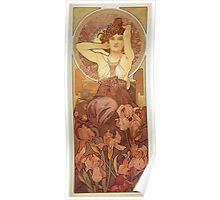 Alphonse Mucha - Amethyst Poster